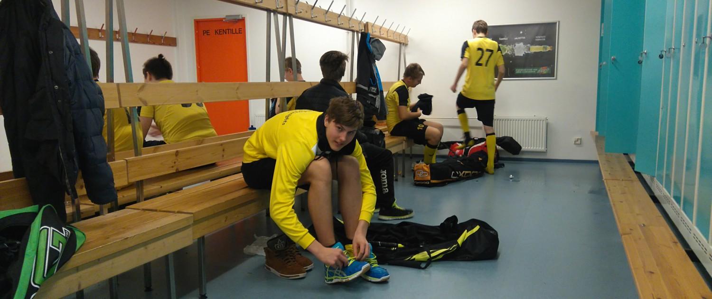 Hyökkääjä John OJala sitoi kengännauhat hyvin ennen Grani-peliä. Tuloksena 6 tehopistettä.
